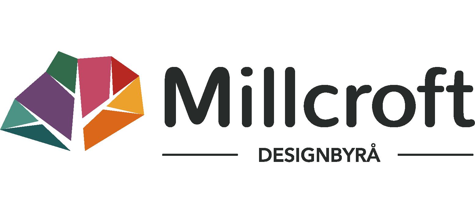 Industridesign – Produktdesign – Webbdesign – Grafisk design Stockholm, Göteborg, Malmö, Västerås, Örebro, Uppsala, Eskilstuna| Millcroft AB logo